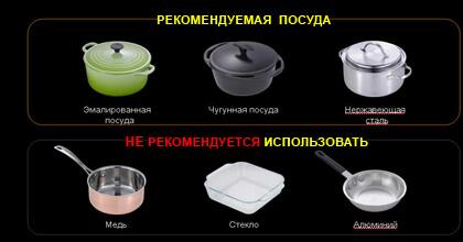 Рекомендуемая посуда