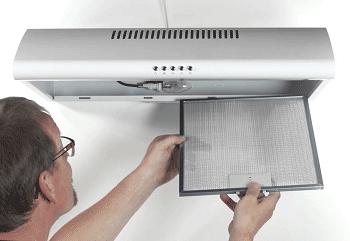 Съём жирового фильтра с кухонной вытяжки