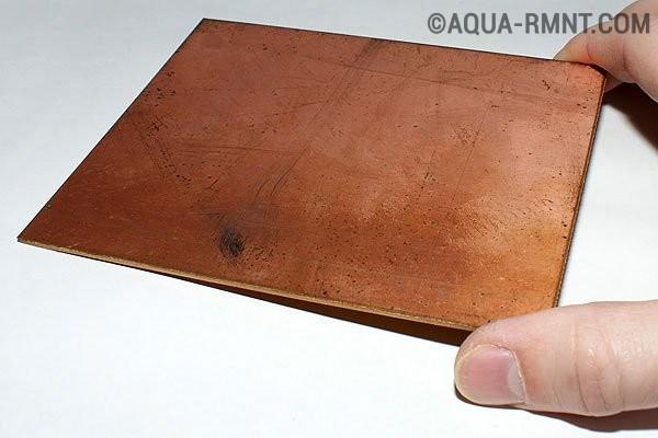 Пластина фольгированного стеклотекстолита