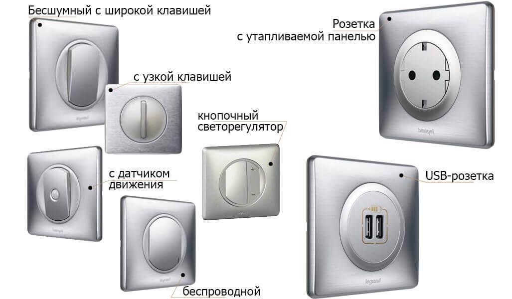 Серии розеток и выключателей Legrand - подробный обзор