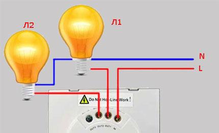 Схема подключения сенсорных коммуникаторов