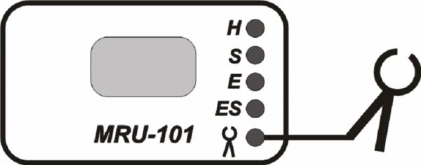 Схема подключения измерительных клещей к прибору MRU-101