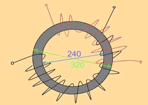 Размещение изолирующих кругов из электрокартона