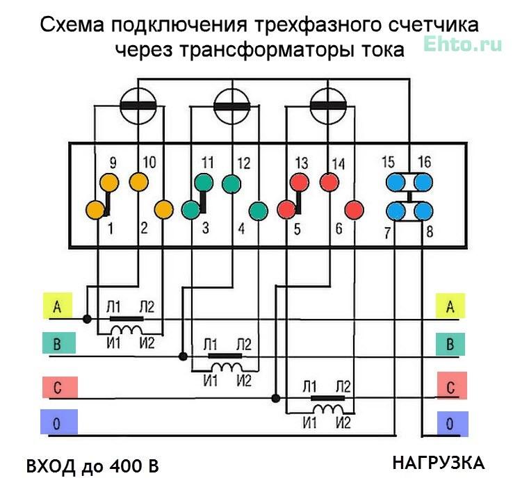 Схема полукосвенного подключения