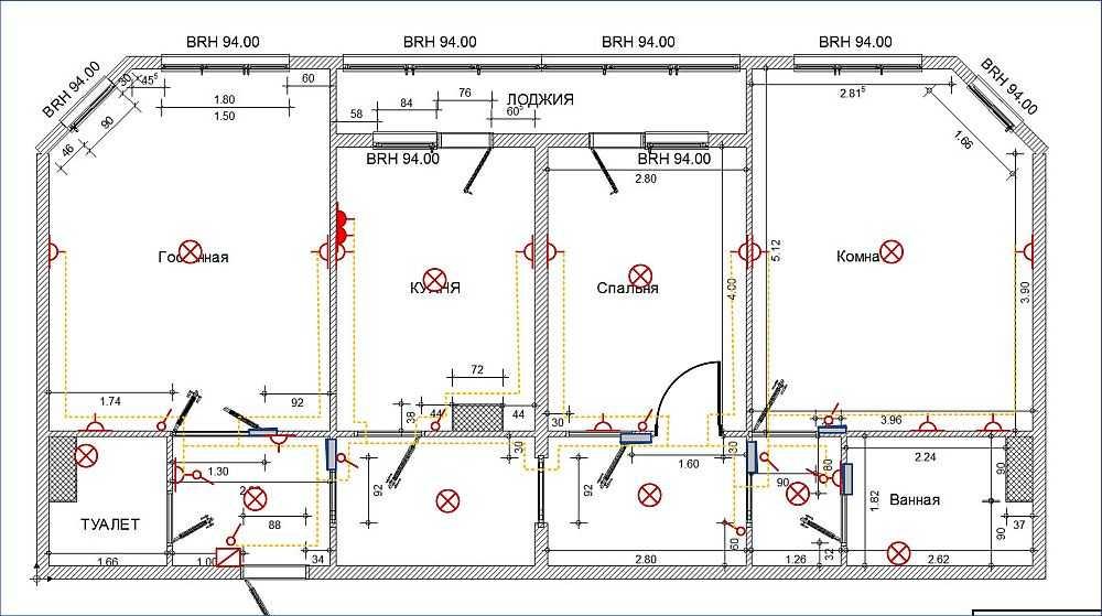 По готовому проекту штробление стен под проводку делать безопасно