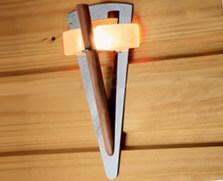 Оптоволоконный светильник в бане