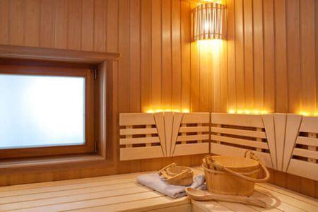 Установка светильников в бане