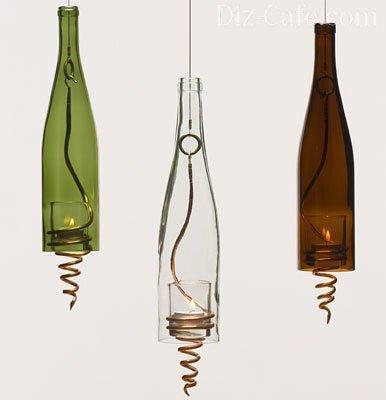 Бутылка-подсвечник