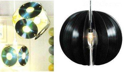 Светильники из дисков и пластинок
