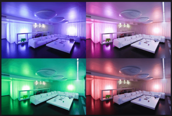 Разная подсветка в комнате