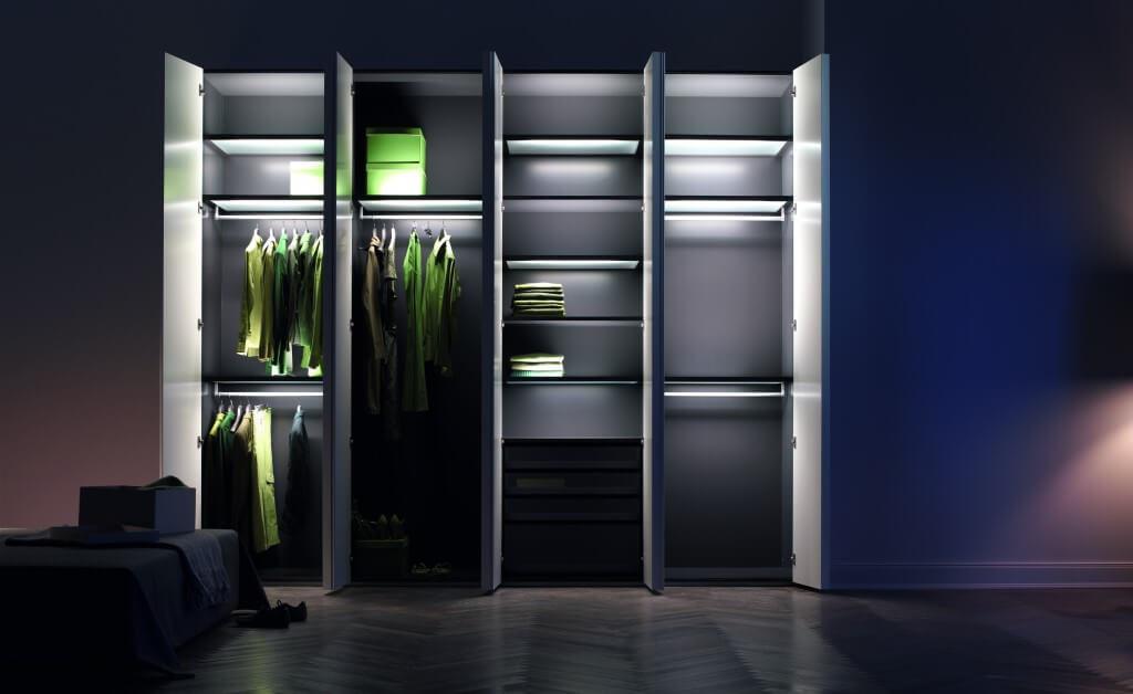 Фото шкафа для одежды с подсветкой