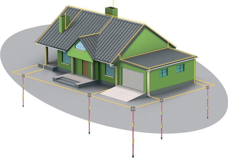 Схема заземлительного контура для дома