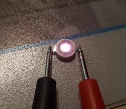 Проверка полярности светодиодов