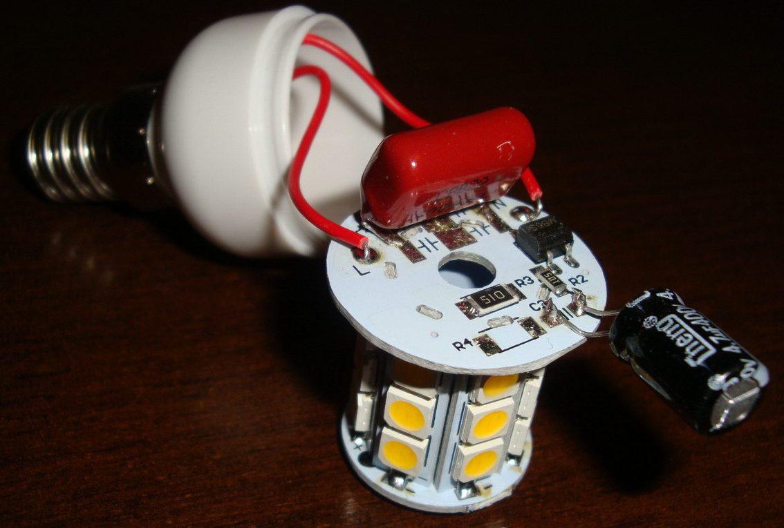 Увеличение емкости фильтрующего конденсатора в LED-лампе