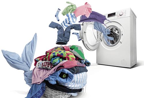 Работа стиральной машинки