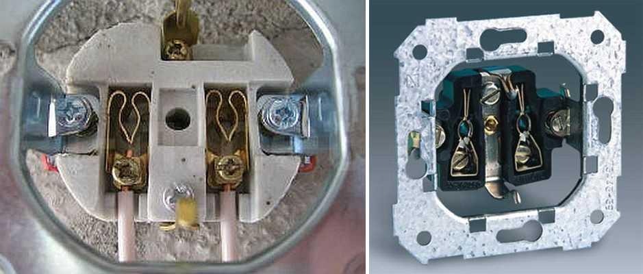 Основание может быть керамическим или пластиковым, контакты - латунные и латунные с напылением, бронзовые