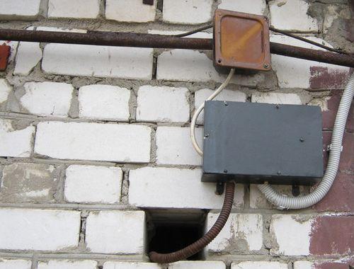 ввод в гараж кабеля