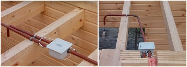 Скрытая электропроводка в деревянном доме