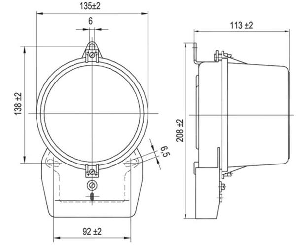 Размеры электрического счетчика