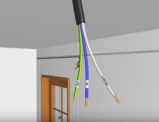 кабель для подключения люстры от диммера