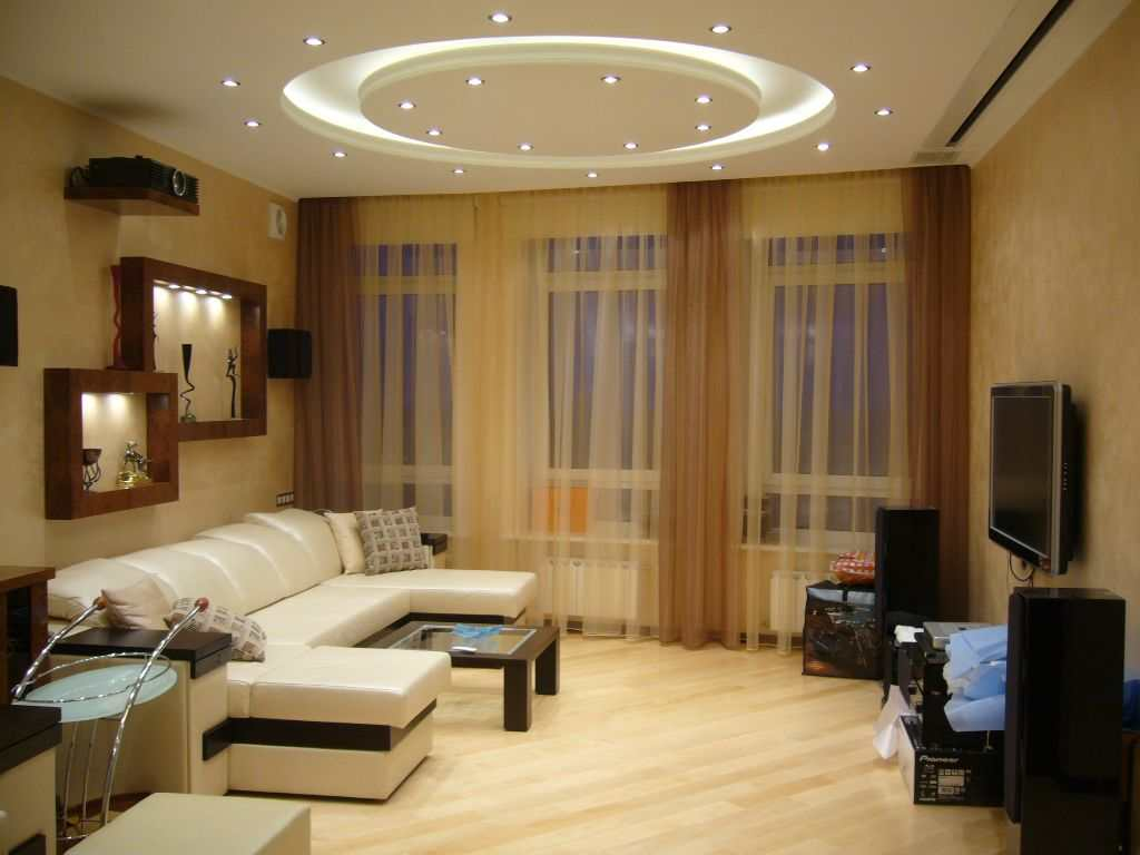 Оптимальное освещение гостиной