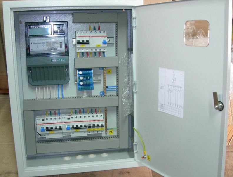 Щит учета электроэнергии 220 В