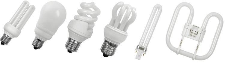 Люминисцентные лампы могут быть разной формы