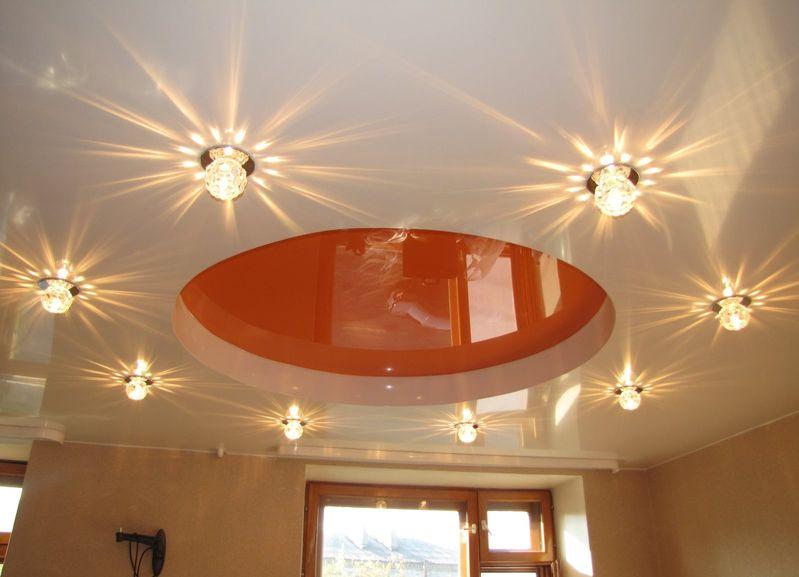 Как расположить светильники потолочные