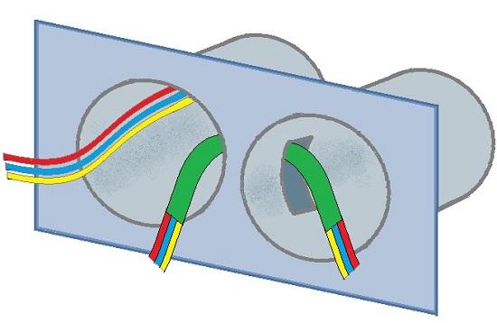 Как подключить две розетки на один провод