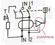 Схема полупроводникового УЗО