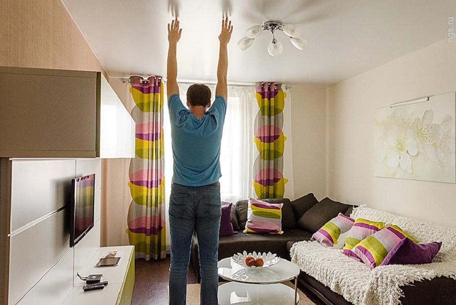 Высота потолка в комнате
