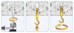 Установка крюка для люстры