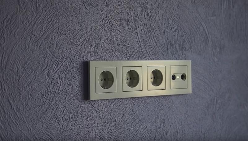 Многомодульная электрическая розетка