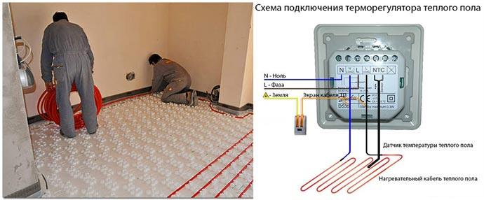 Термостат и электрический пол