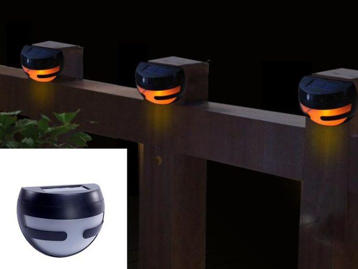 Автономные светильники для подсветки забора