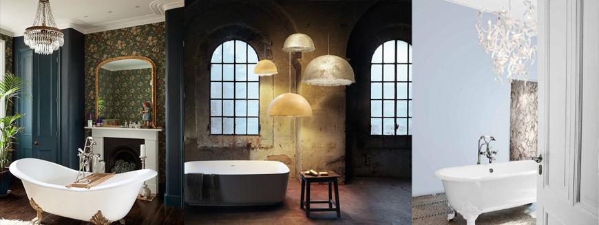 люстры в ванной, освещение в ванной