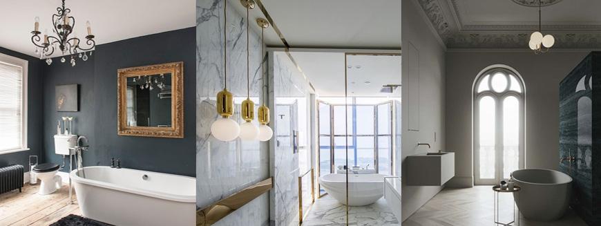 освещение ванной комнаты с окном