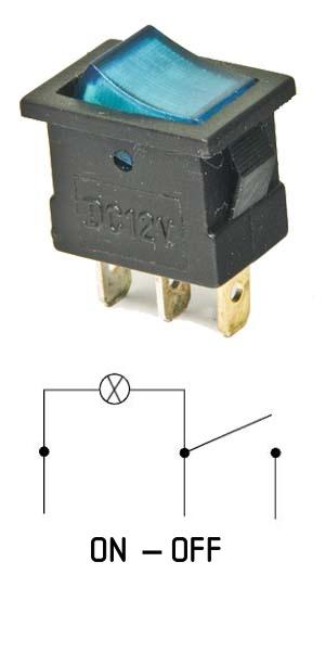 как подключить переключатель с подсветкой 3 контакта