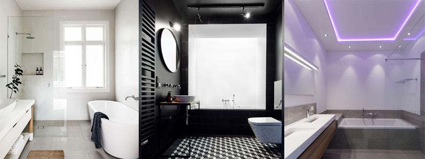 как освещают ванную комнату