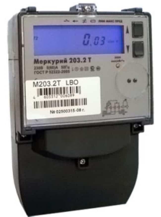 Многотарифный счетчик Меркурий 203.2Т