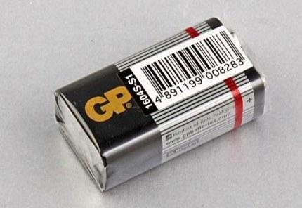 "Батарейка форм-фактор ""крона"""