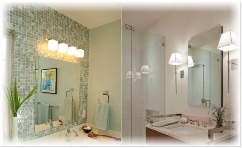 Варианты освещения для ванной комнаты