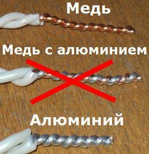 Описание алюминиевой проводки