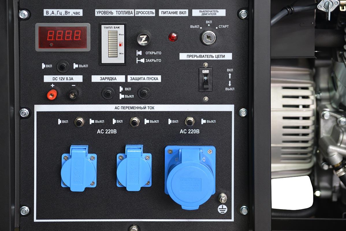 Панель управления генератора