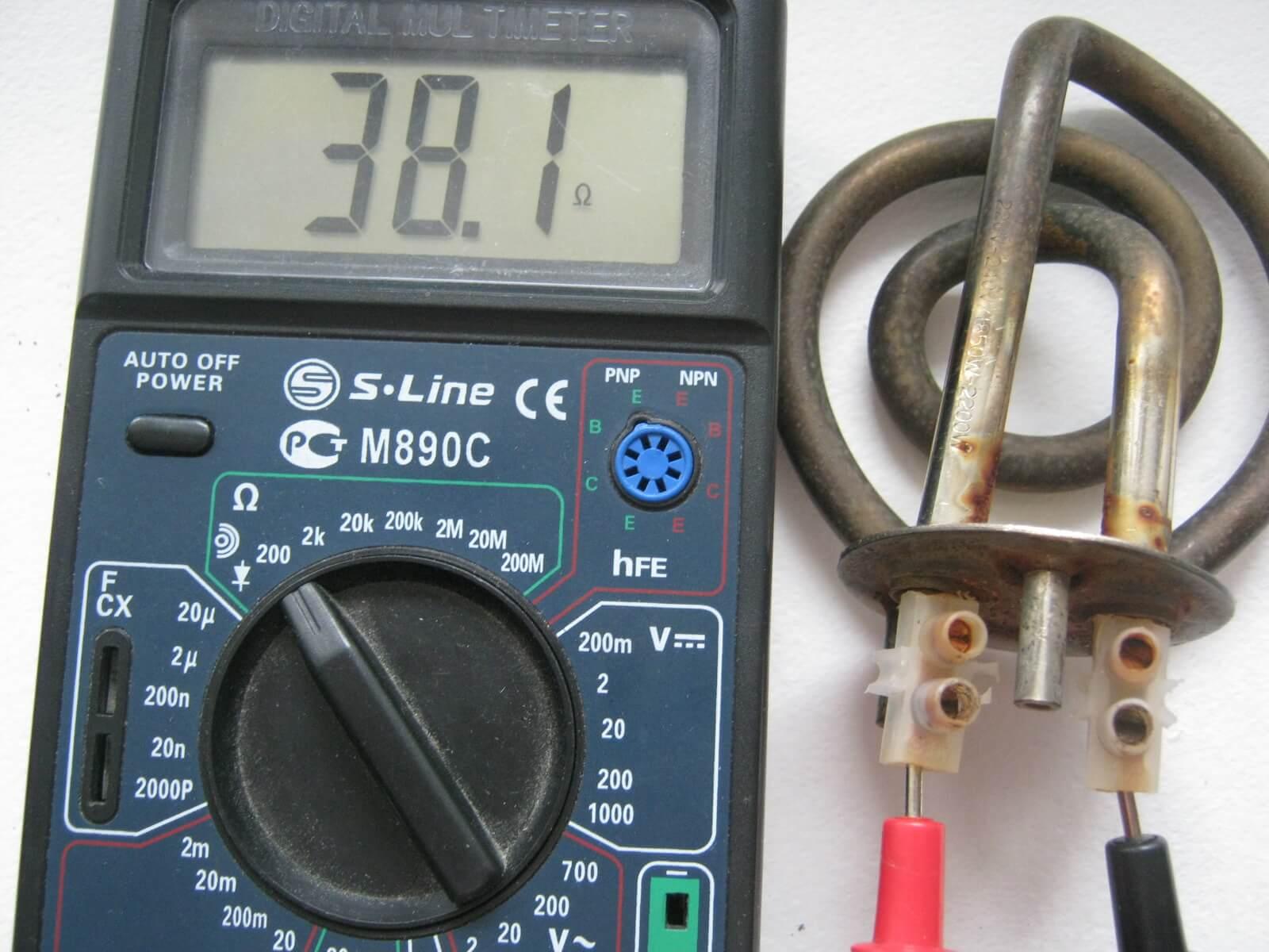 Прозвонка нагревательного элемента