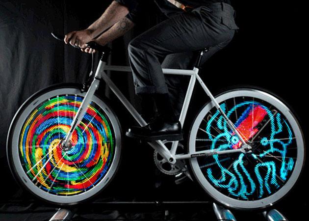Оригинальная подсветка на велосипеде