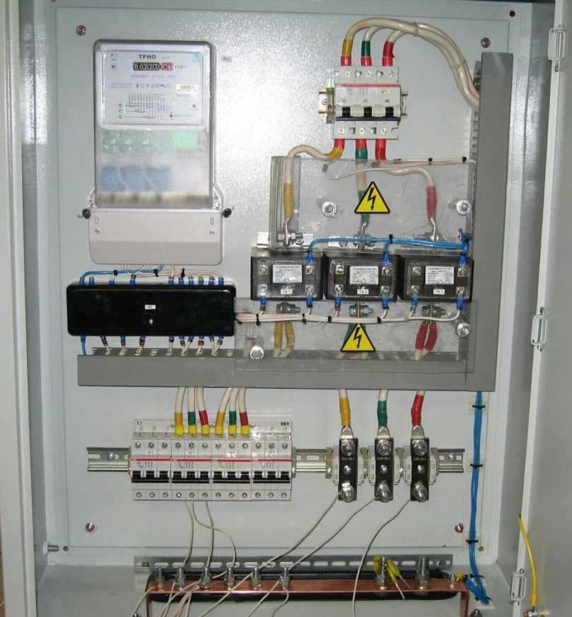 Подключение электросчетчика в трехфазной сети через трансформаторы тока