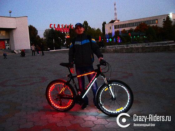 Как сделать подсветку колес велосипеда?