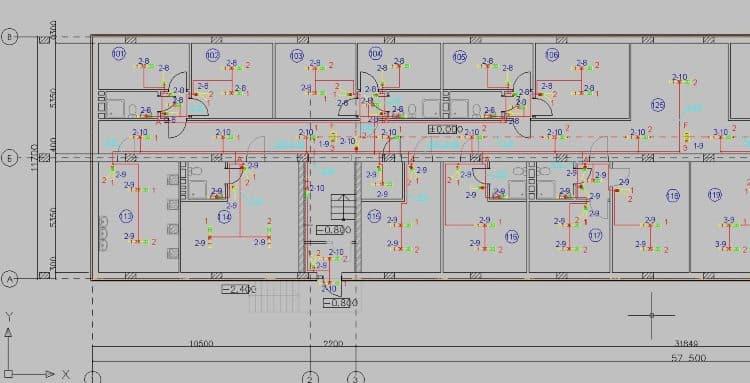 Пример схемы, созданной в редакторе Эльф