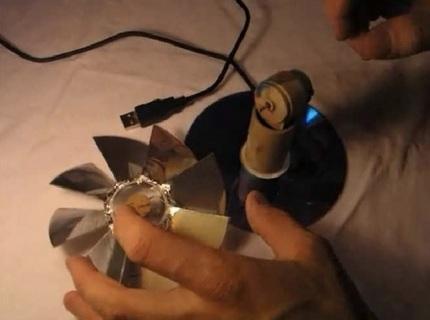 Завершающая стадия сборки вентилятора